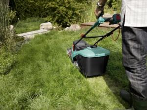 Elektrorasenmäher Test hohes Gras